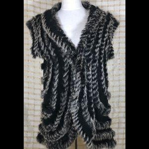 Mushka by sienna rose w/ rabbit fur knit vest